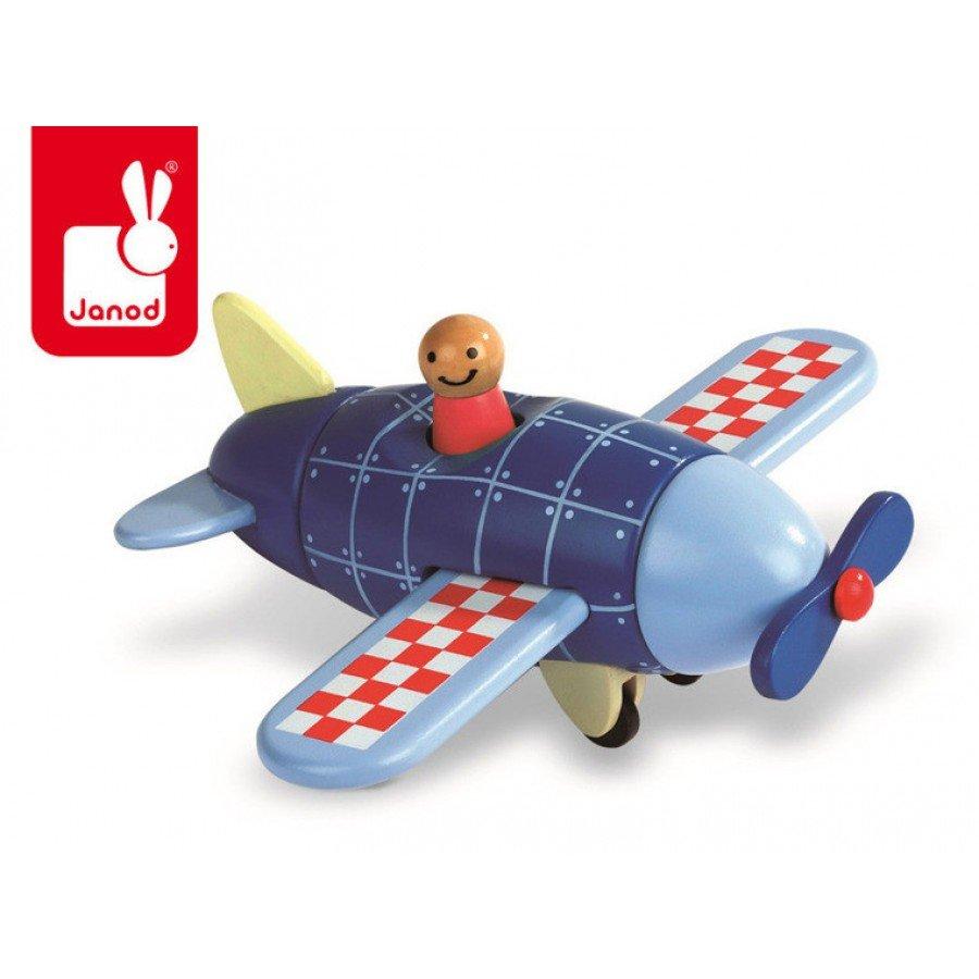 Janod - Samolot drewniany magnetyczny | Esy Floresy