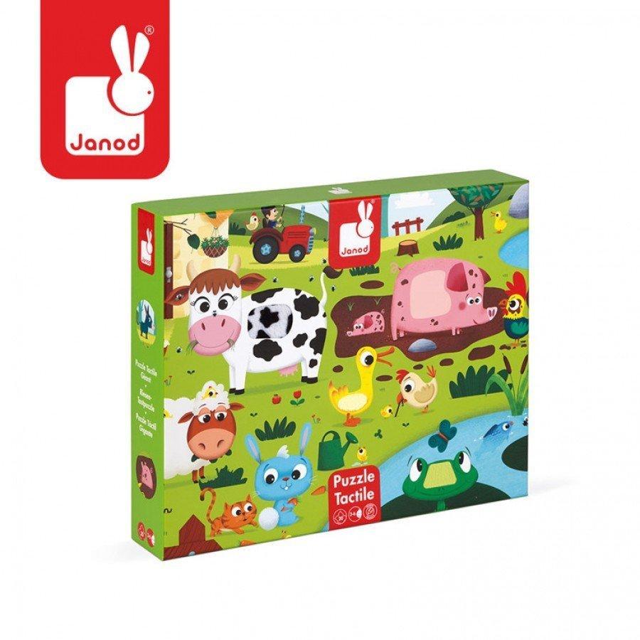 Janod - Puzzle sensoryczne 20 elementów Farma | Esy Floresy
