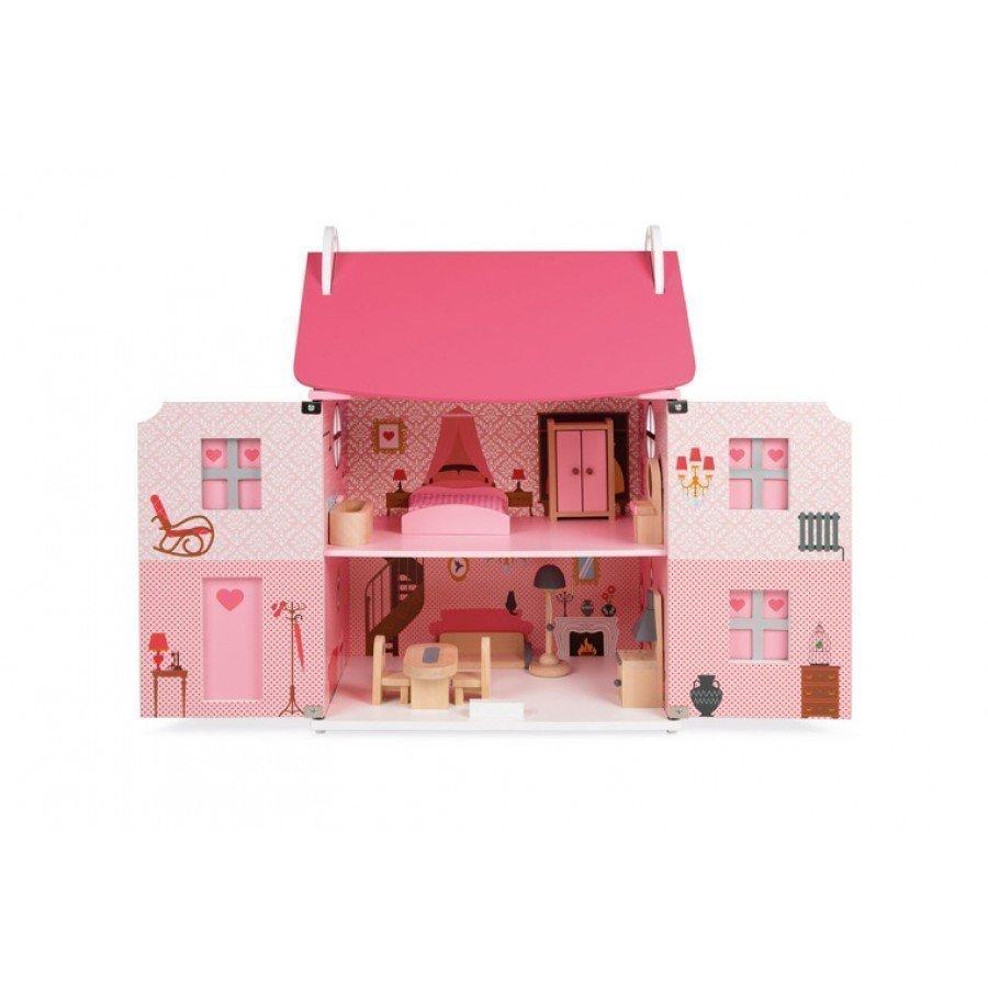 Janod - Domek dla lalek z 11 meblami - Esy Floresy