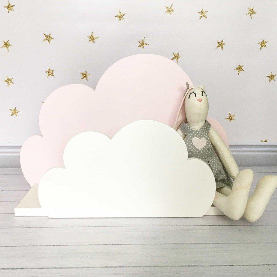 MoZalka Półka Chmurka - Różowa | Esy Floresy
