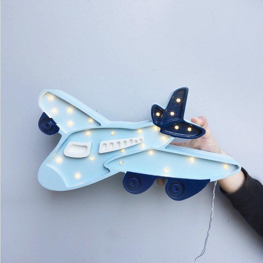 Lampa Little Lights Samolot - błękitny | Esy Floresy