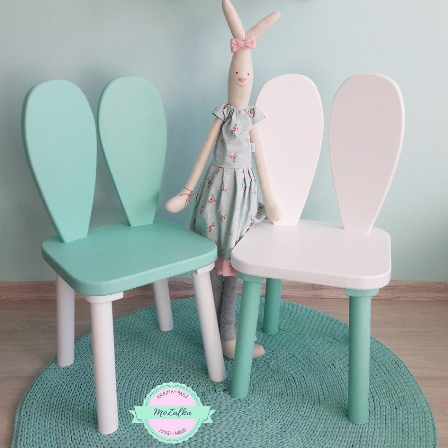 MoZalka Krzesełko Królik - Różowy | Esy Floresy