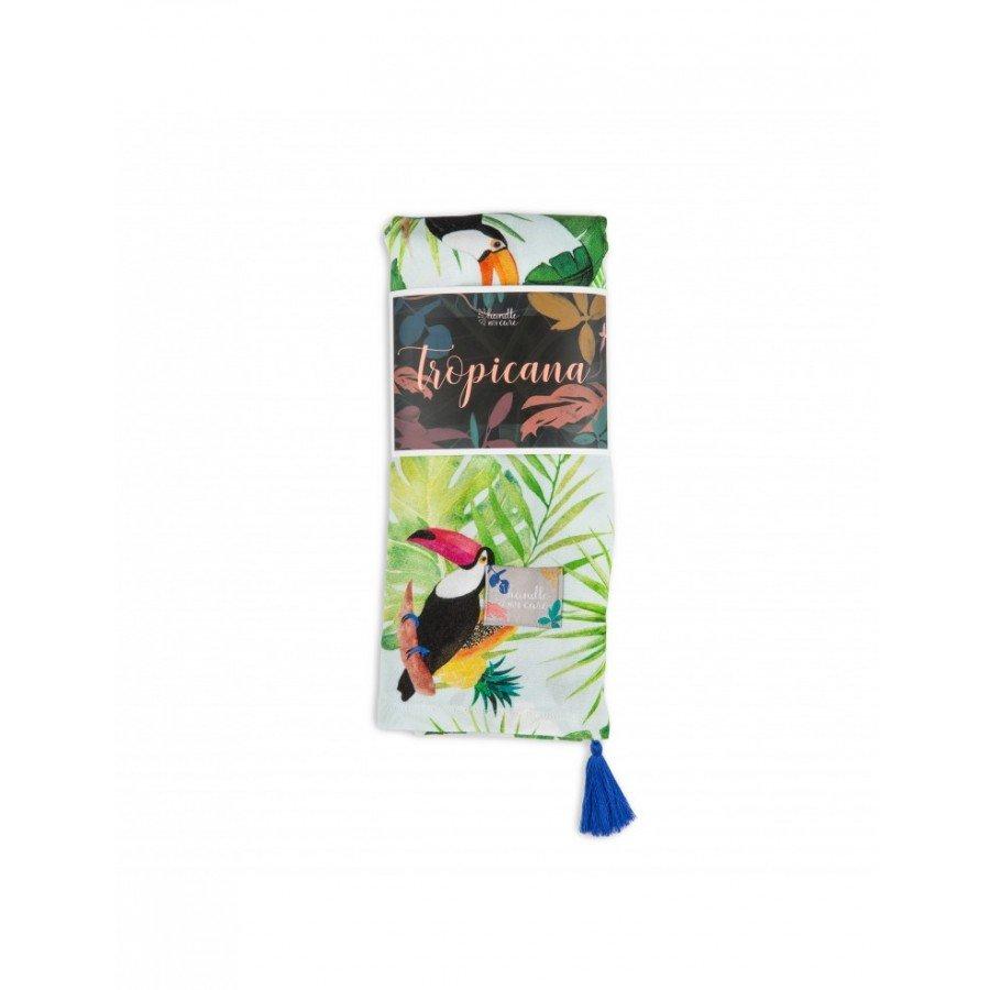 Handle with care- Otulacz Bambusowy Tropicana Jungle Navy 120x120 - Esy Floresy