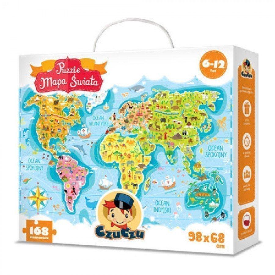 CzuCzu Puzzle Mapa Świata 6-12 lat | Esy Floresy