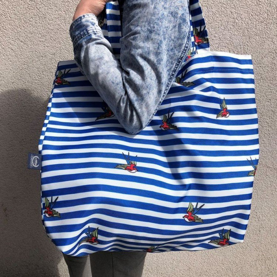 La Millou - Barber Sailor Strips Shopper Bag | Esy Floresy