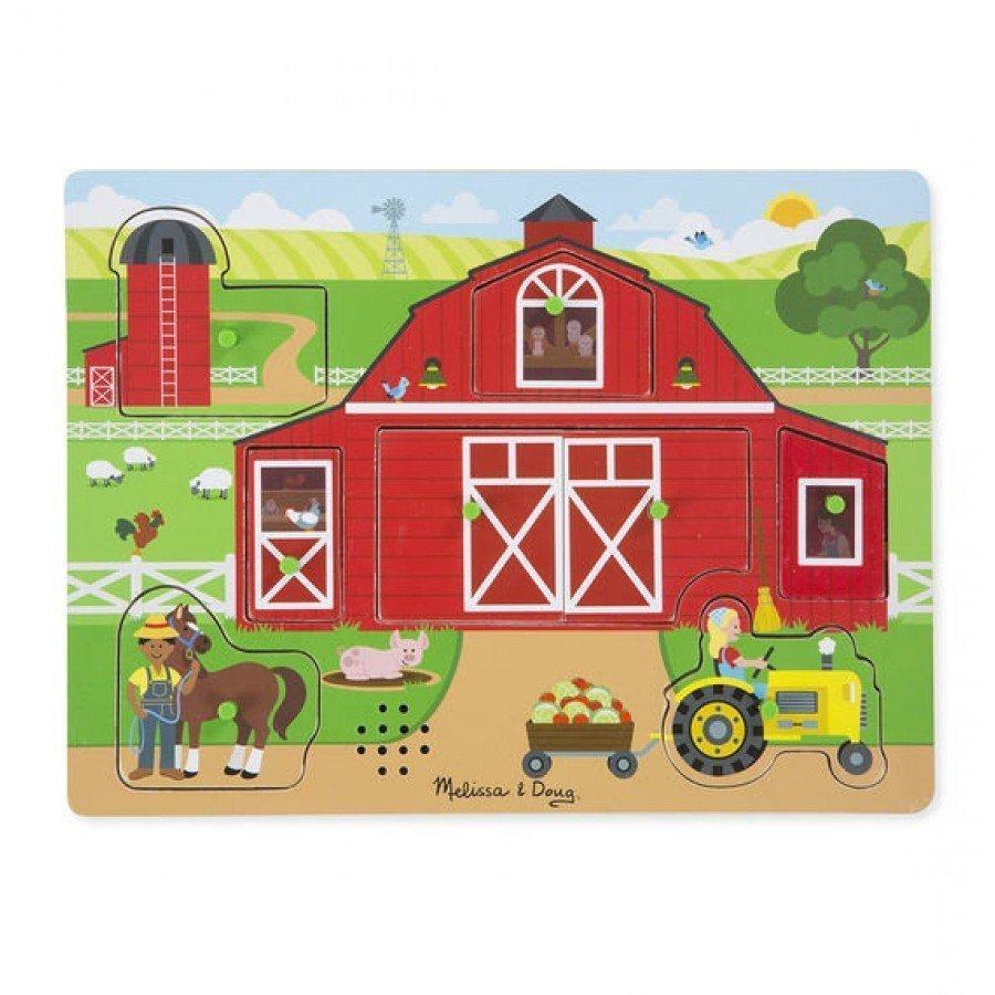 Melissa & Doug - Puzzle dźwiękowe Na farmie | Esy Floresy
