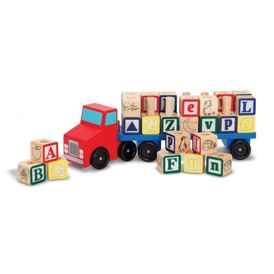 Melissa & Doug - Drewniana ciężarówka Alfabet | Esy Floresy