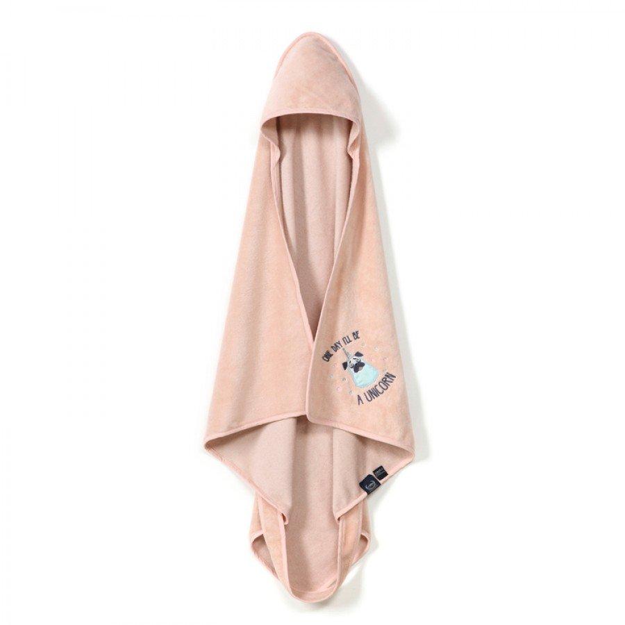 La Millou - Ręcznik Bamboo Soft - NEWBORN - Powder Pink - DOGGY UNICORN | Esy Floresy