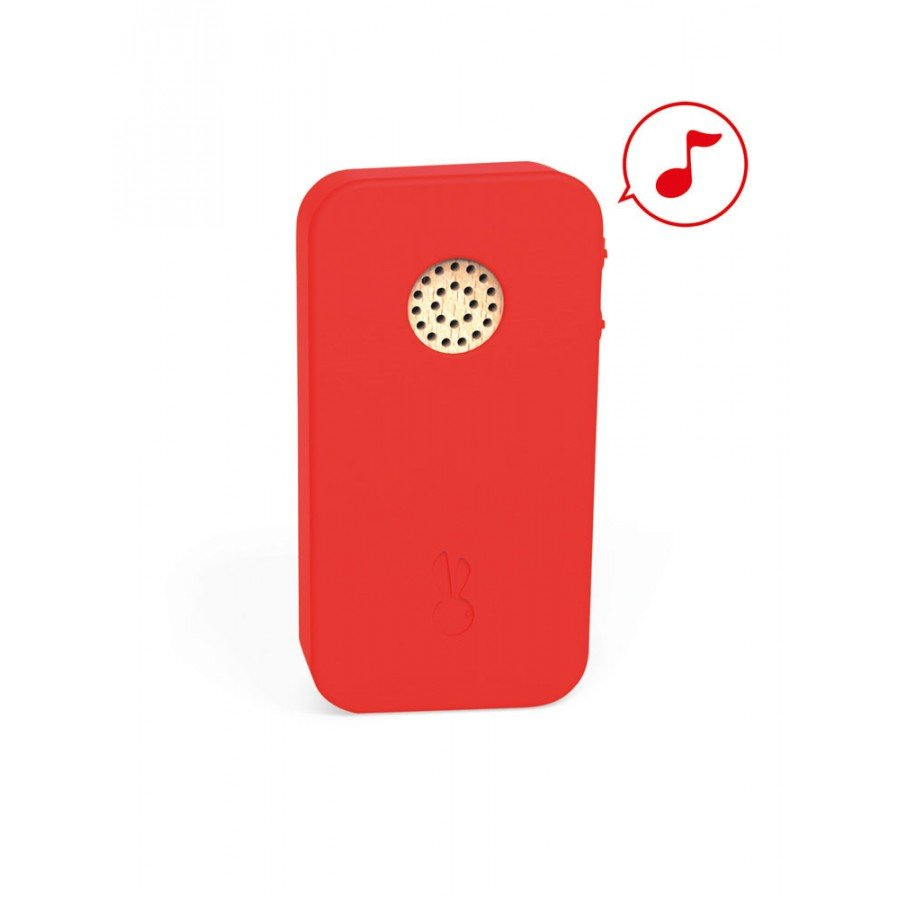 Janod - Telefon drewniany z dźwiękami - Esy Floresy