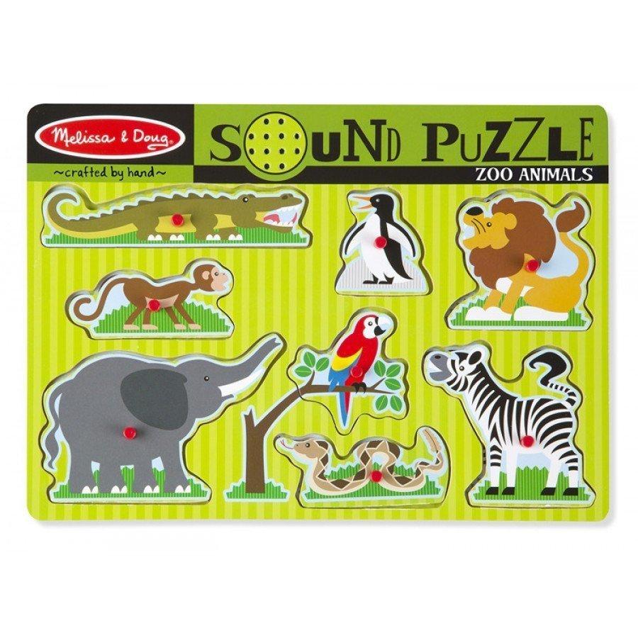 Melissa & Doug - Puzzle dźwiękowe - zwierzęta w Zoo | Esy Floresy