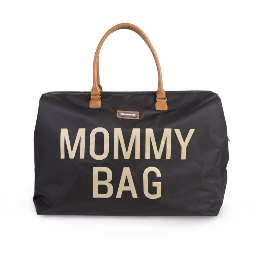 Childhome - Torba Podróżna Mommy Bag czarno-złota - Esy Floresy