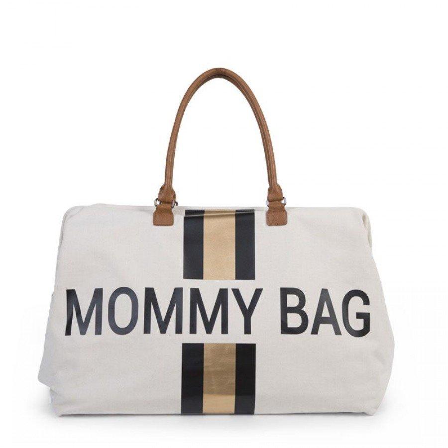 Childhome - Torba Podróżna Mommy Bag paski czarno-złote - Esy Floresy