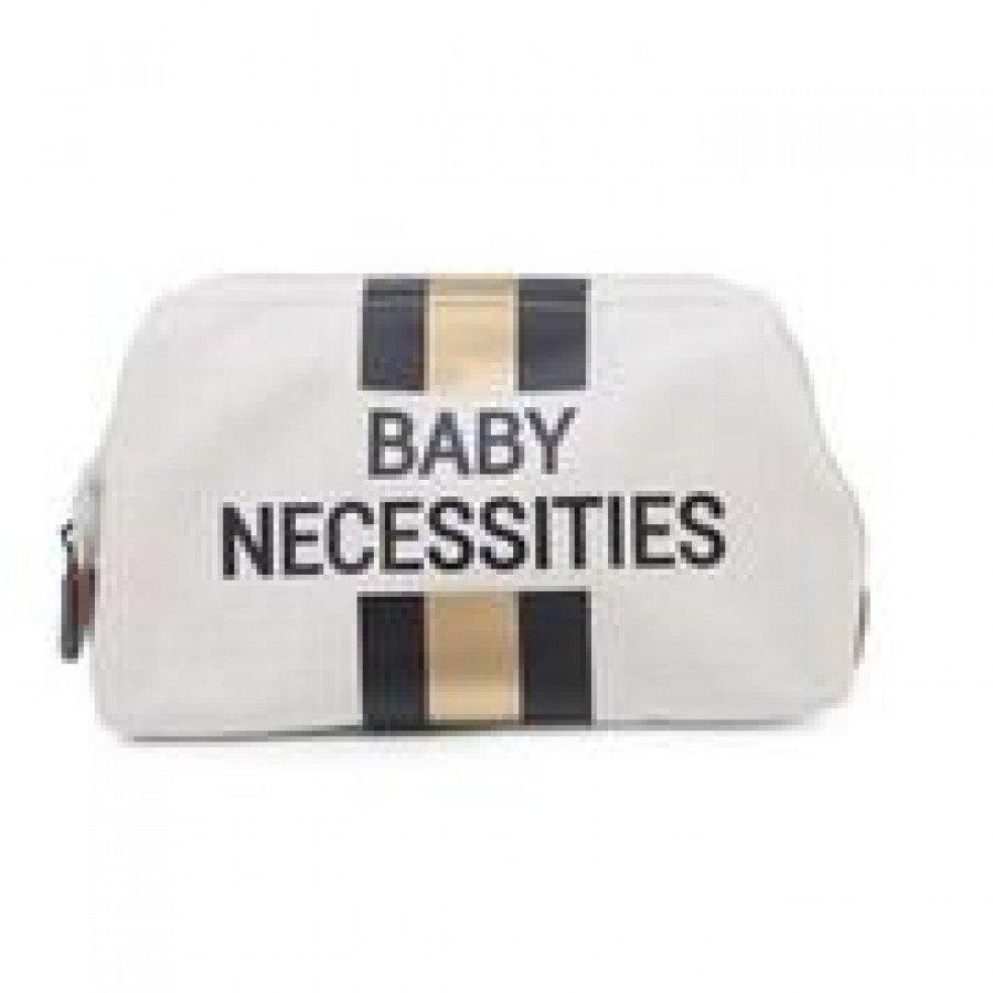 Childhome - Kosmetyczka Baby Necessities paski czarno-złote | Esy Floresy