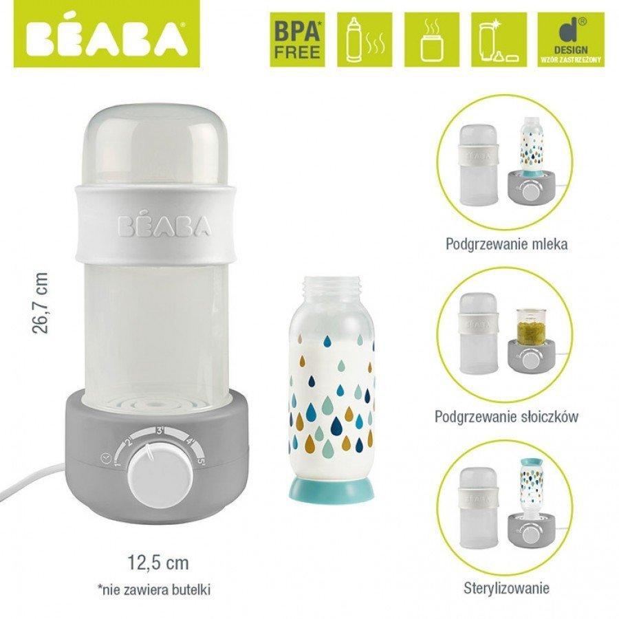 Beaba - Podgrzewacz i sterylizator parowy do butelek i słoiczków Babymilk Second grey | Esy Floresy