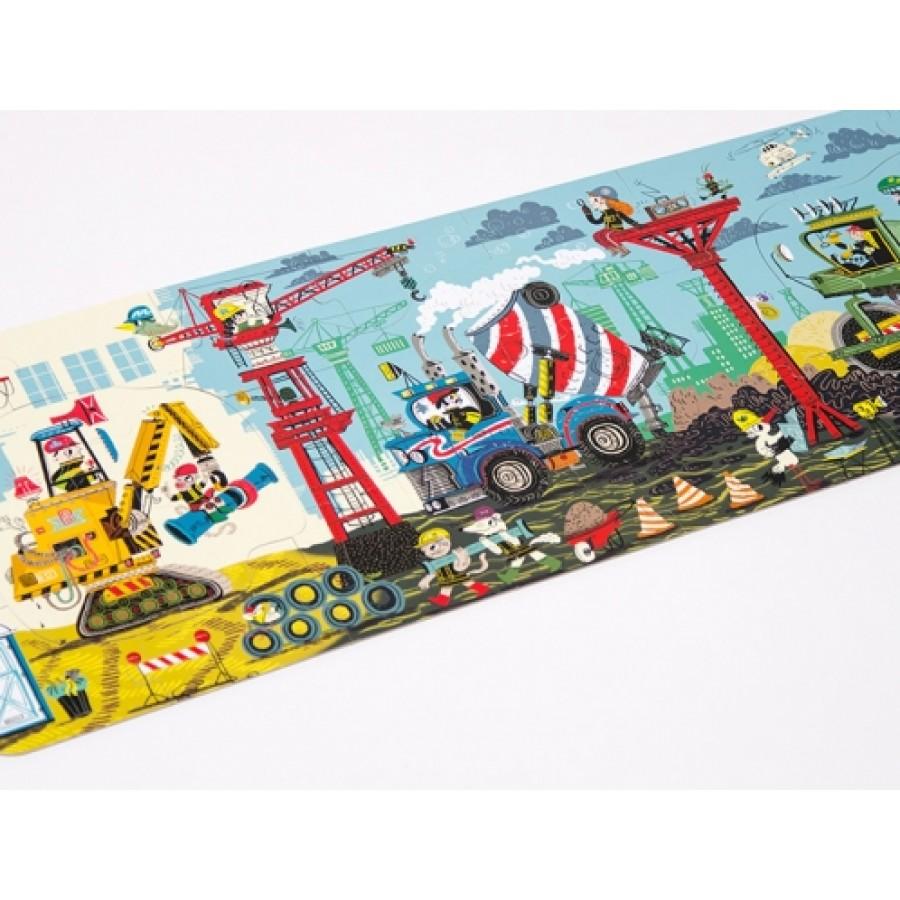 CzuCzu Dłuuugie puzzle Na budowie dla dzieci 3+ - Esy Floresy