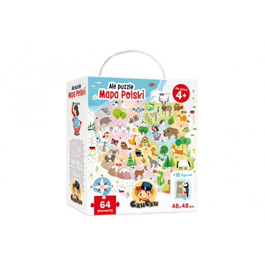 CzuCzu Ale puzzle Mapa Polski dla dzieci 4+ | Esy Floresy