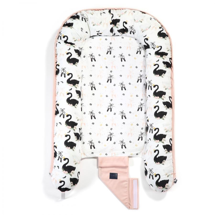 La Millou - Velvet Collection Baby Nest - Moonlight Swan - Powder Pink - Esy Floresy