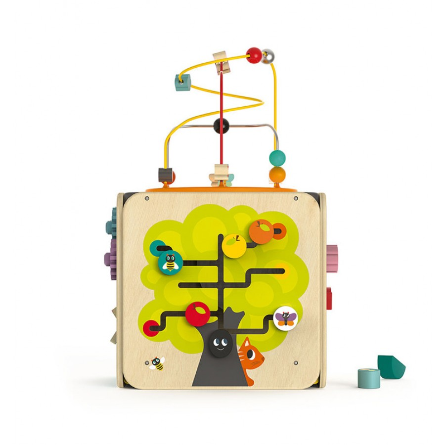 Janod - Wielofunkcyjna kostka edukacyjna z pętlą duża - Esy Floresy