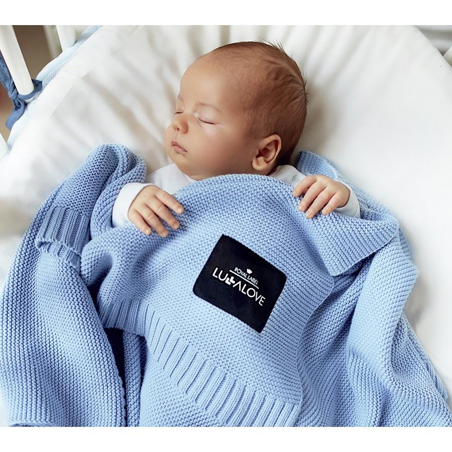 Lullalove Bambusowy koc - Baby blue - Esy Floresy