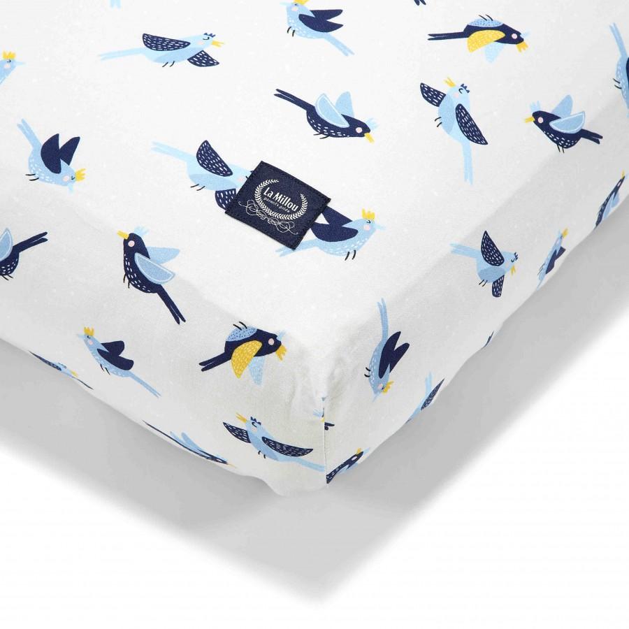 La Millou - Prześcieradło Good Night 60 x 120 cm - Hello World Birds | Esy Floresy