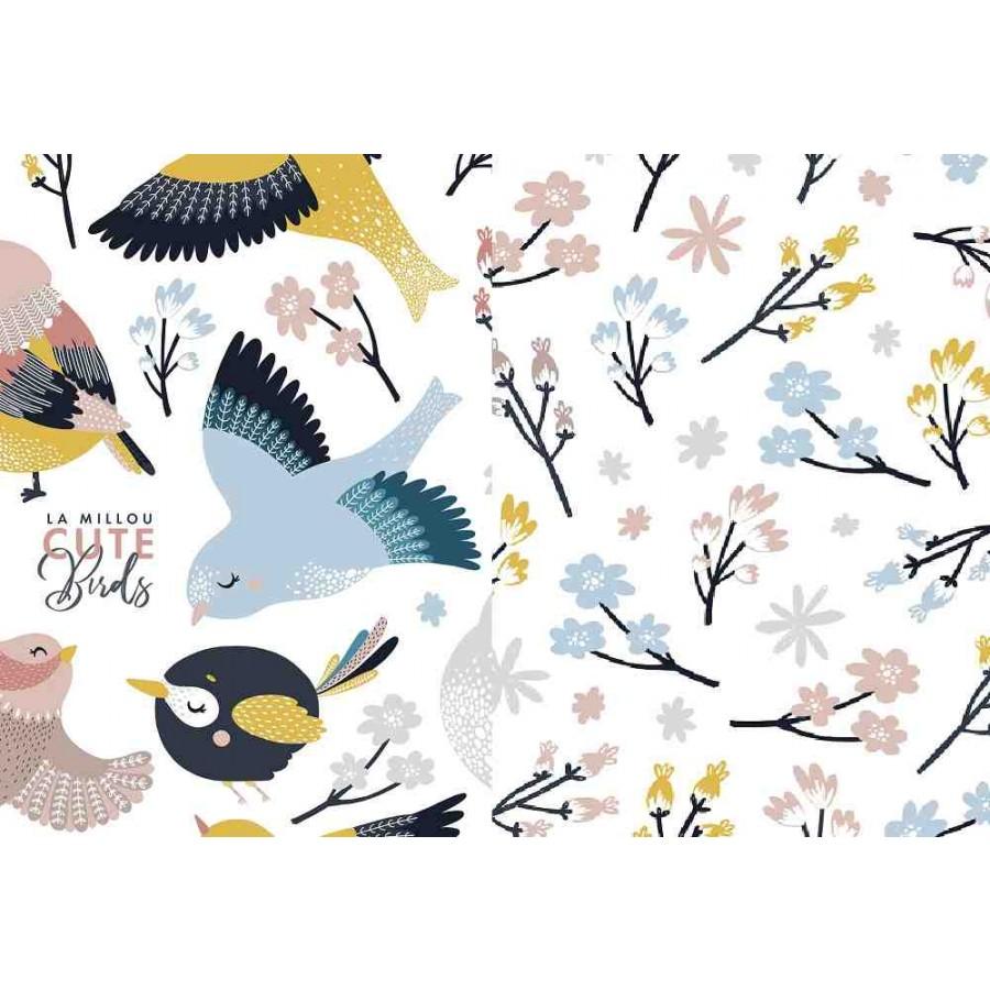 La Millou - Komplet Pościeli L - Cute Birds VIVID & CUTE FLOWERS VIVID | Esy Floresy