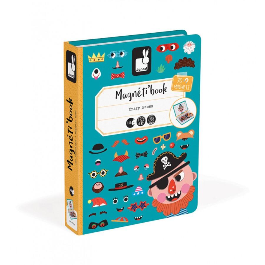 Janod - Magnetyczna układanka Śmieszne buzie Chłopiec Magnetibook kolekcja 2018 | Esy Floresy