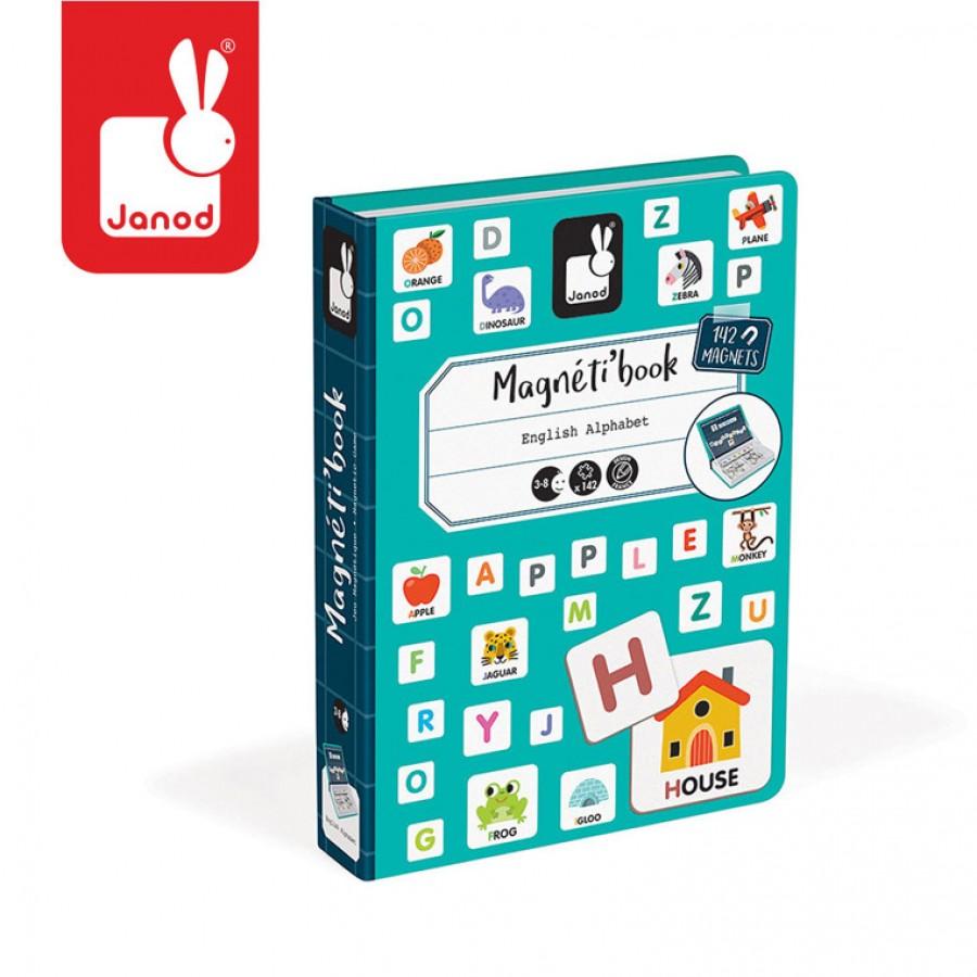 Janod - Magnetyczna układanka Alfabet Magnetibook kolekcja 2018 | Esy Floresy