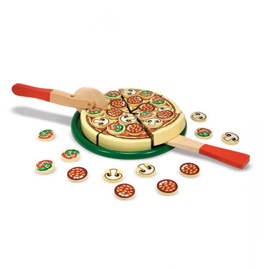 Melissa & Doug - Drewniana Pizza do krojenia | Esy Floresy