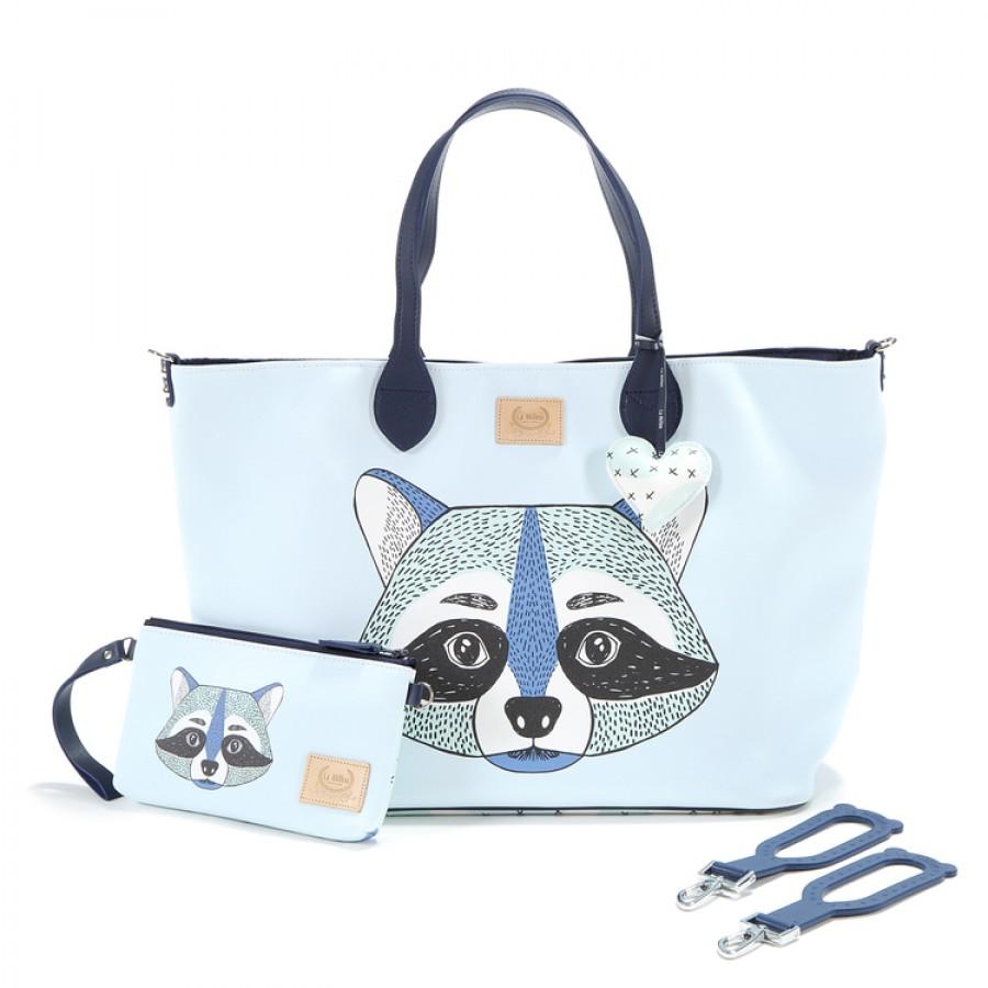 La Millou - Torba Medium z saszetką - I'm Raccoon - Premium by Katarzyna Zielińska   Esy Floresy