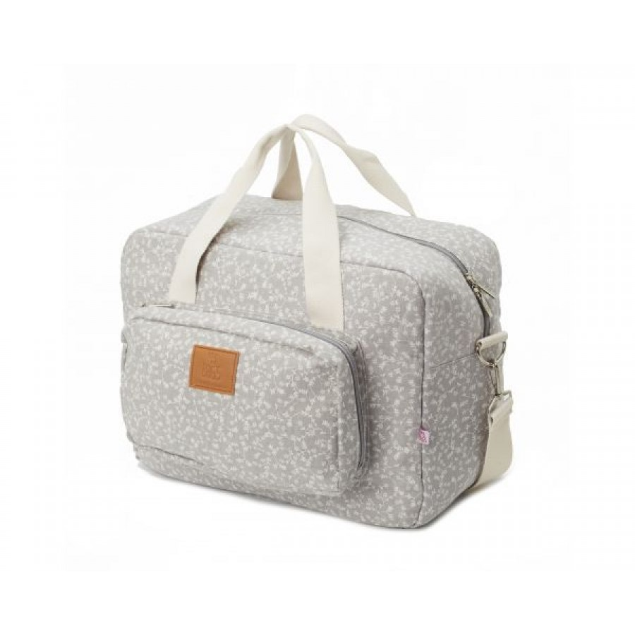 My Bag's - Torba Maternity Bag Liberty Flowers light grey - Esy Floresy