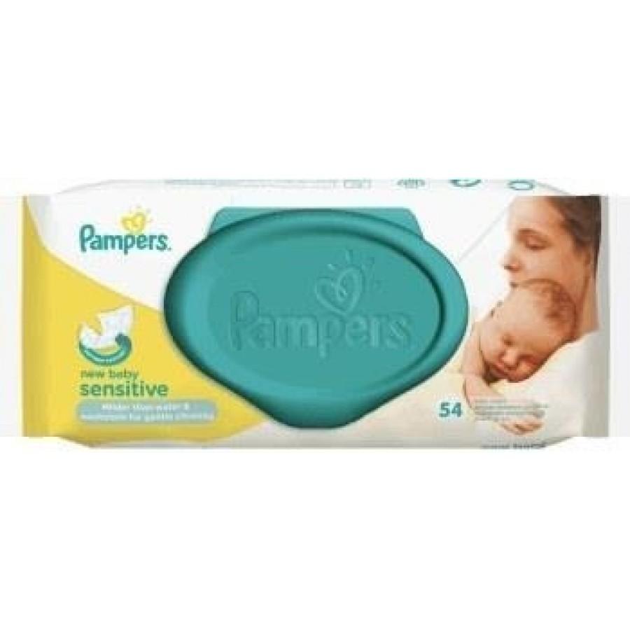 PAMPERS NEW BABY SENSITIVE Chusteczki - 54 szt. | Esy Floresy
