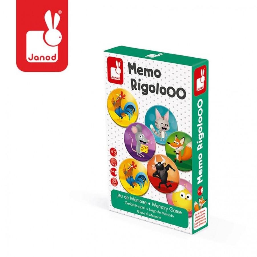 Janod- Gra memory Zwierzęta Rigolooo | Esy Floresy