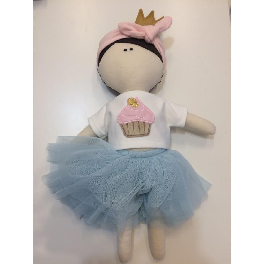MytinyHOBBY - Lalka księżniczka w tiulowej spódniczce i koszulka z babeczką . | Esy Floresy