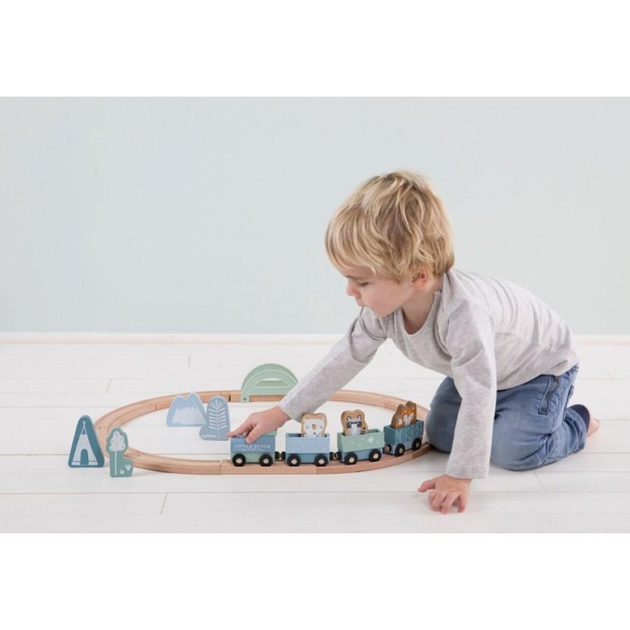 Little Dutch -  Pociąg z torami Błękit . - Esy Floresy