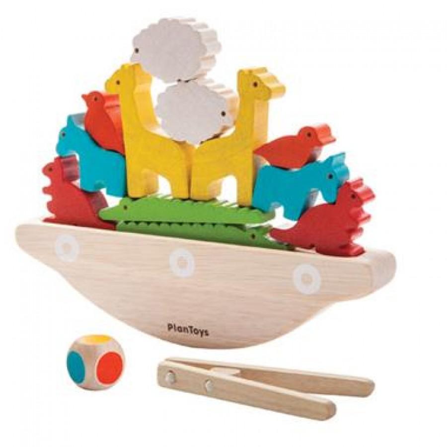Plan Toys - Balansująca łódka.   Esy Floresy