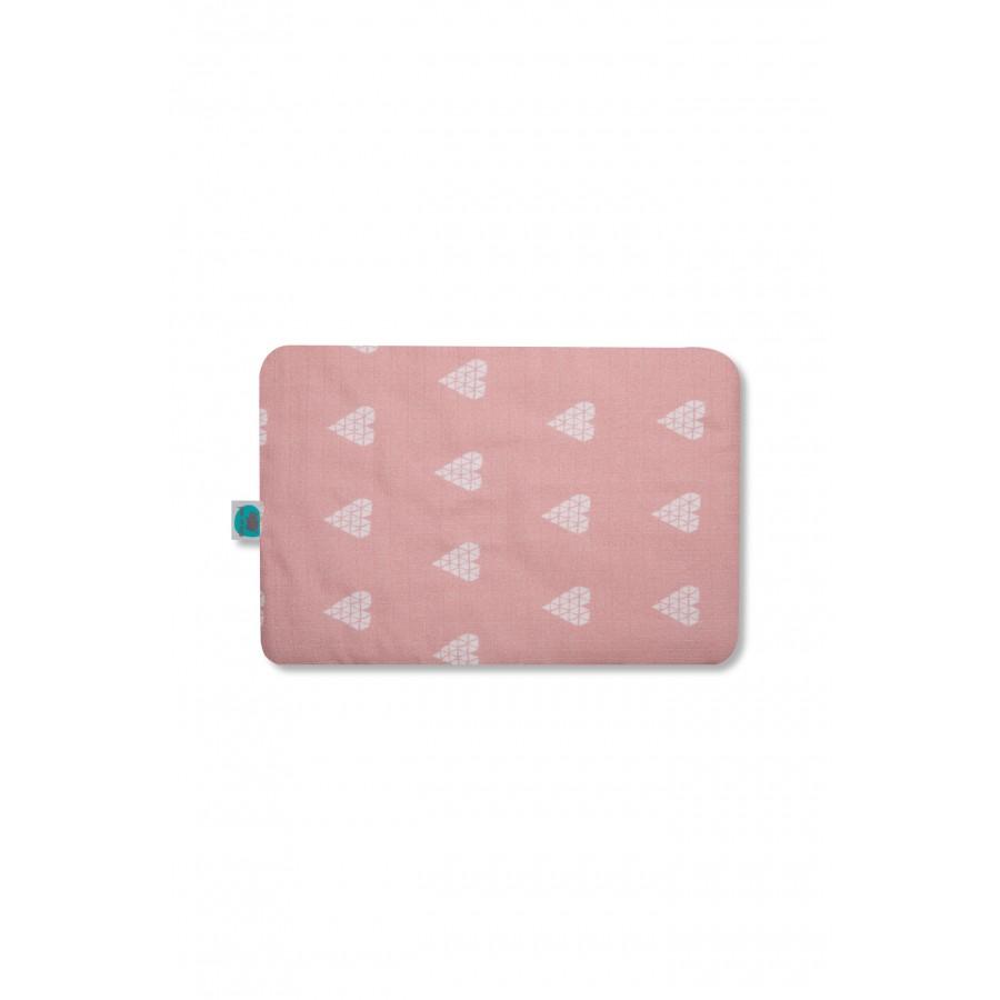 Pink no more - Poduszka muślinowa - serce róż . - Esy Floresy