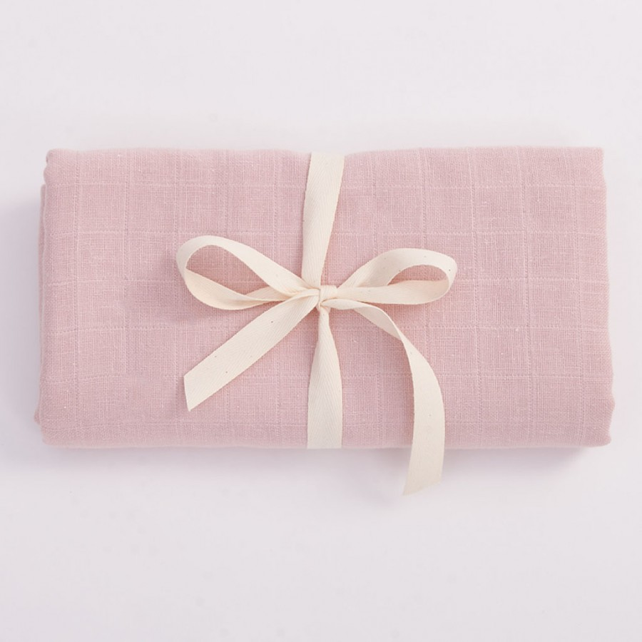 Bim Bla - Otulacz z bawełny organicznej - jasny różowy . - Esy Floresy
