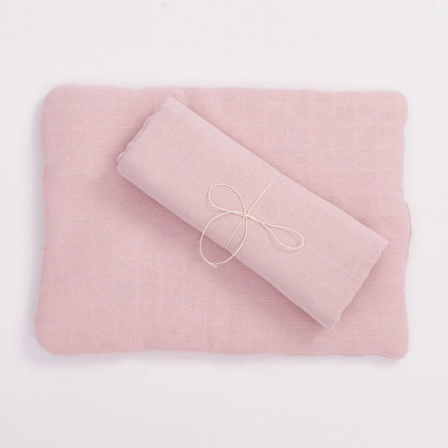Bim Bla - Poduszka z bawełny organicznej - jasno różowa . | Esy Floresy
