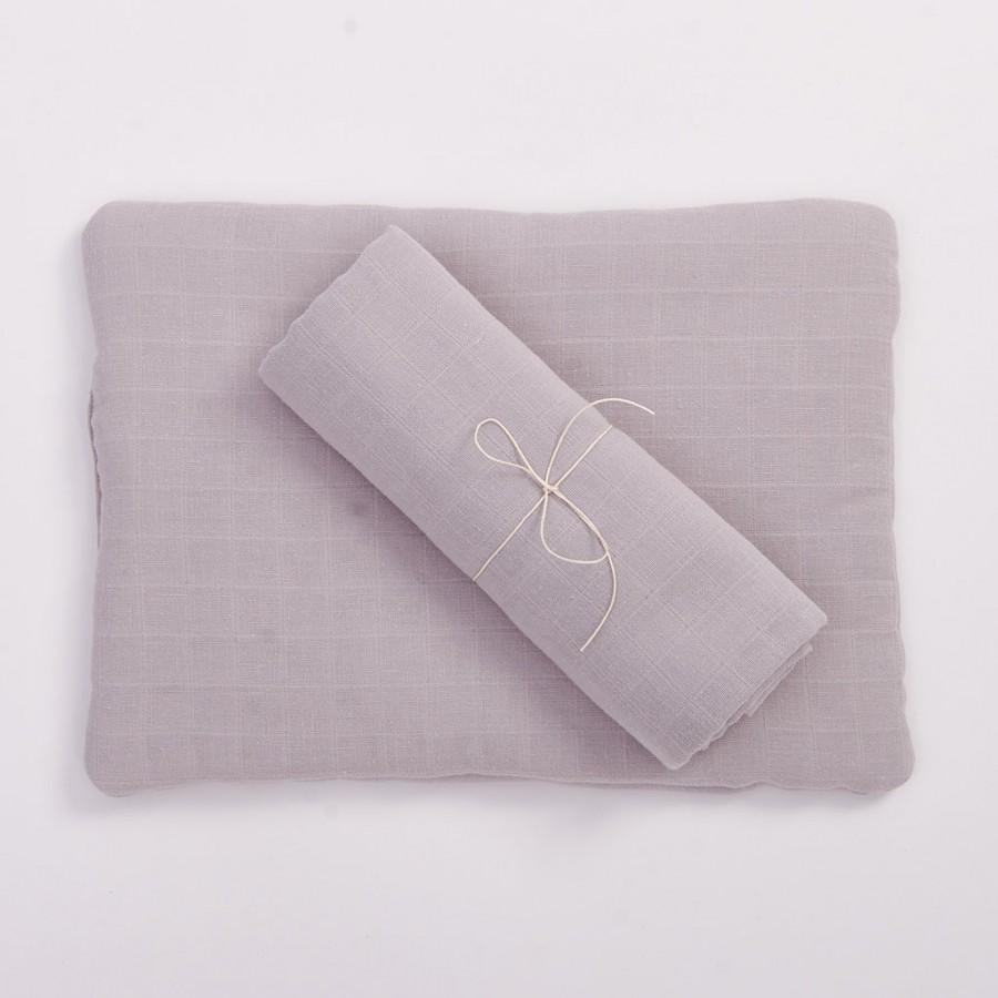 Bim Bla - Poduszka z bawełny organicznej - szara . | Esy Floresy