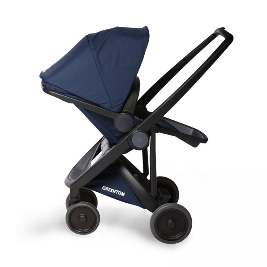 Greentom - Wózek Reversible black - blue - Esy Floresy