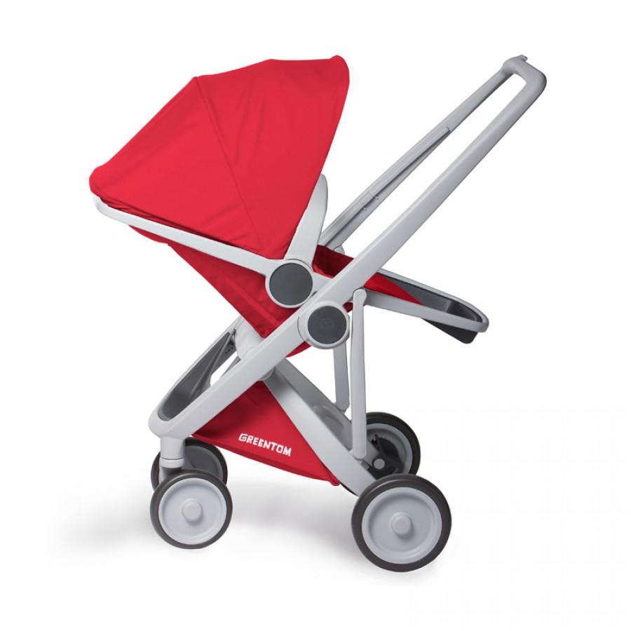 Greentom - Wózek Reversible grey - red - Esy Floresy