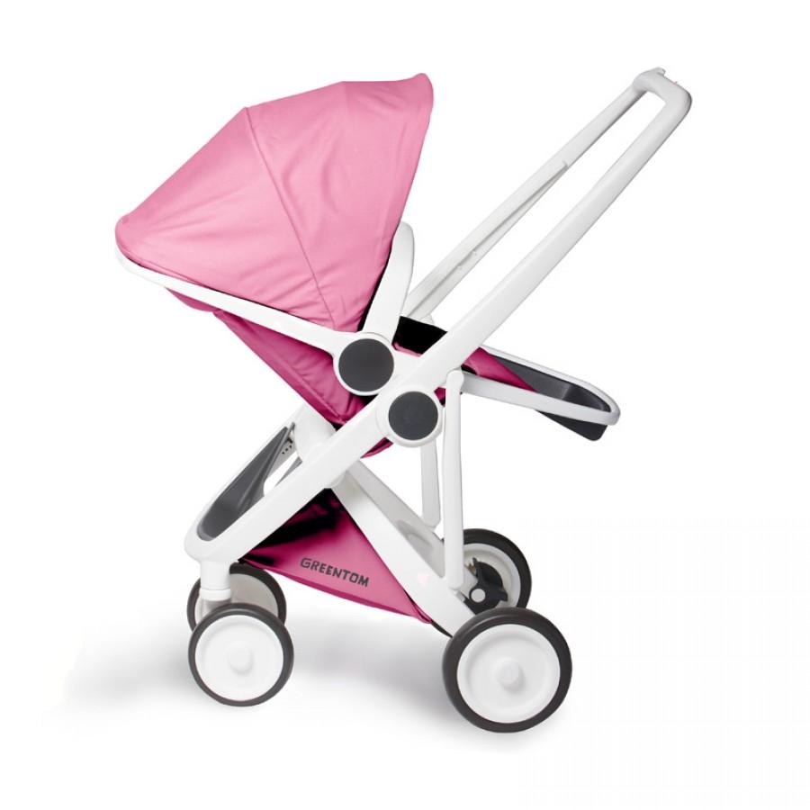 Greentom - Wózek Reversible white - pink - Esy Floresy
