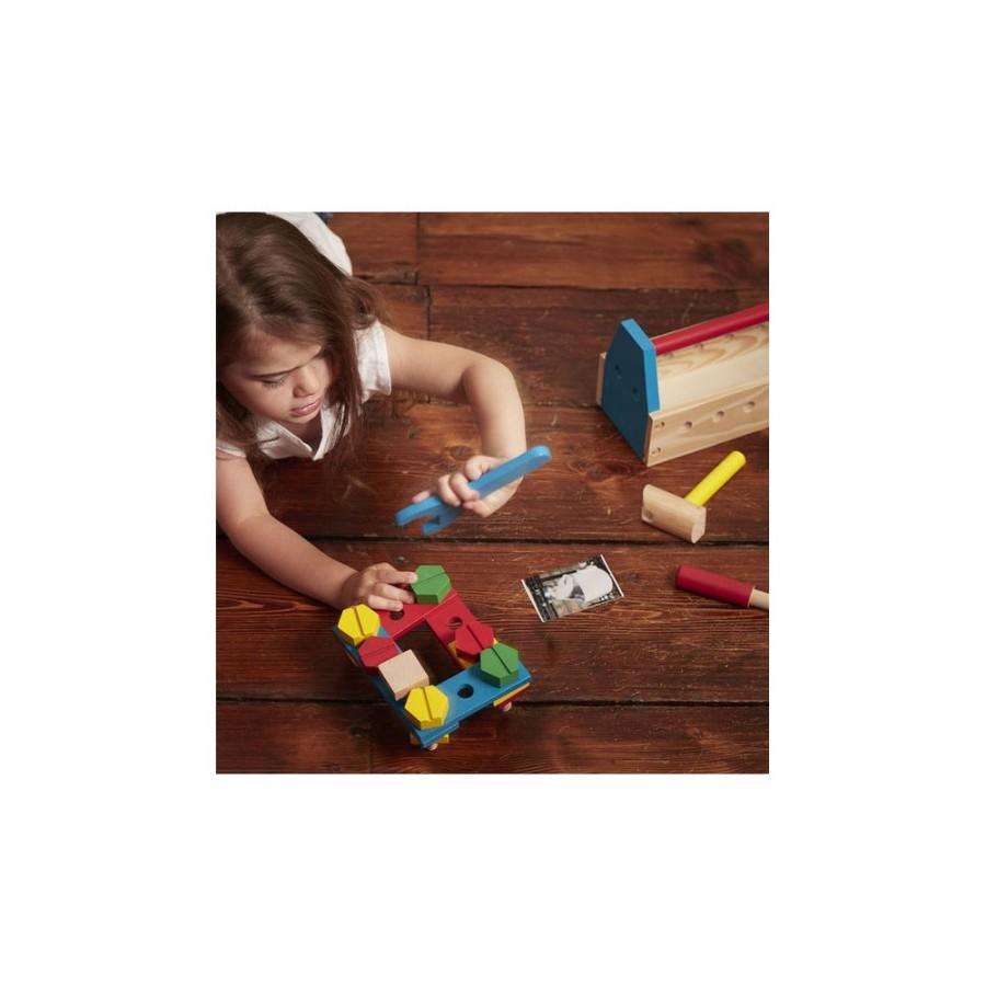 Melissa & Doug - Zestaw narzędzi  Take- Along  Zabawka drewniana . - Esy Floresy
