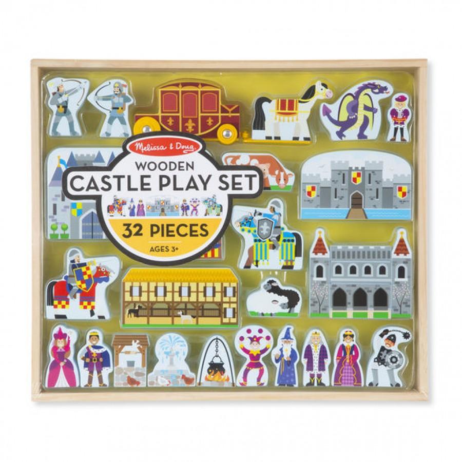 Melissa & Doug - Zestaw do zabawy drewniany zamek. - Esy Floresy