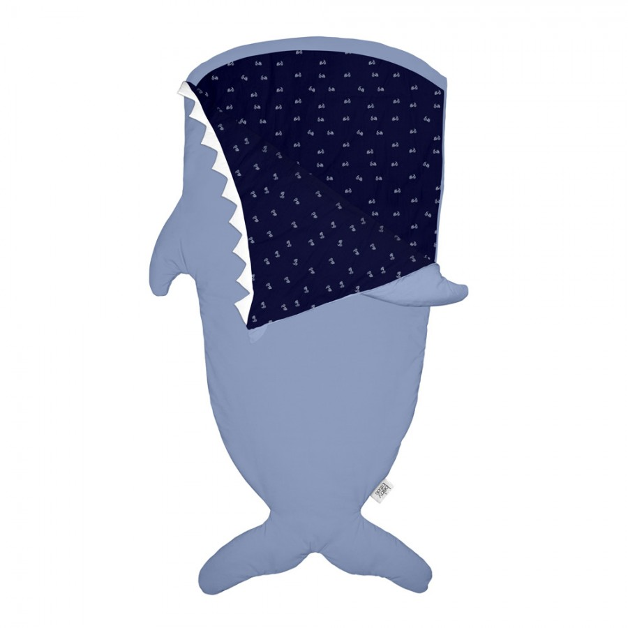 Baby Bites - Śpiworek zimowy Shark (2-6 lat) Slate Blue - Esy Floresy