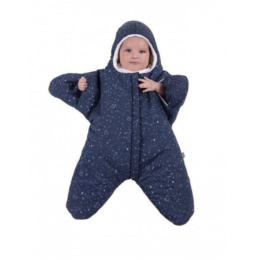 Baby Bites - Kombinezon zimowy Star (3-6 miesięcy) Navy Blue - Esy Floresy