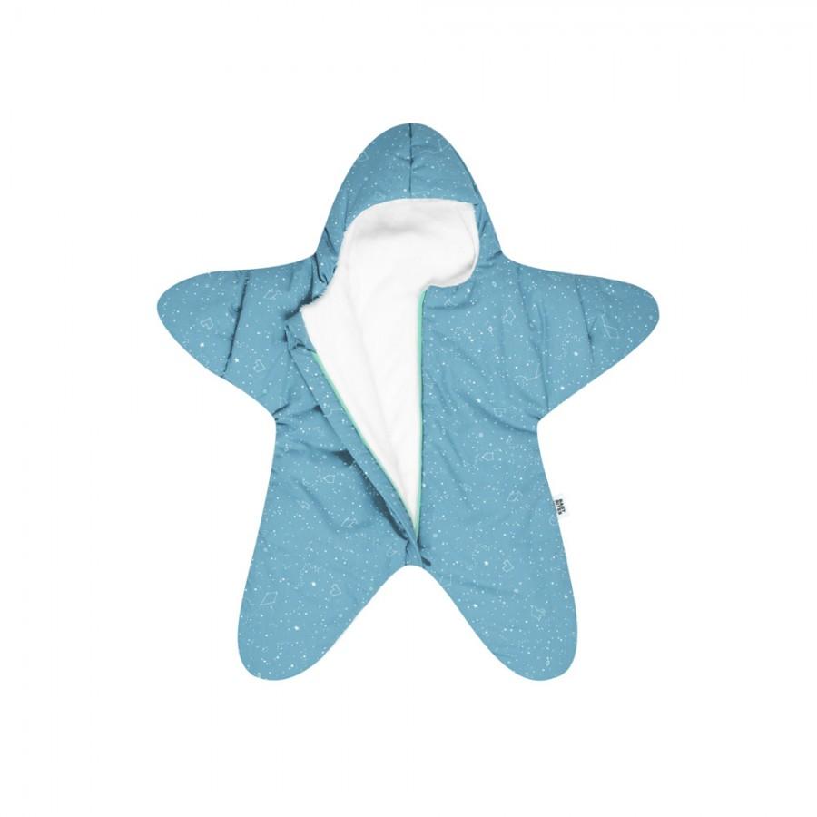 Baby Bites - Kombinezon zimowy Star (3-6 miesięcy) Turquoise - Esy Floresy