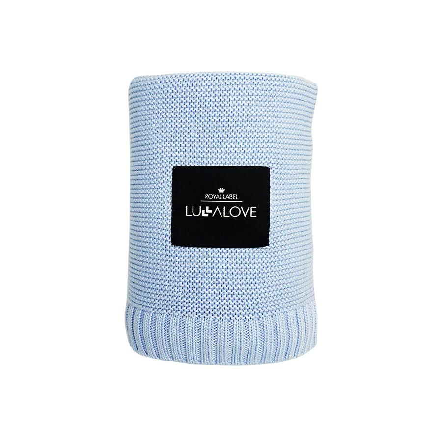 Lullalove - Koc bambusowy Baby blue 120x100cm . - Esy Floresy