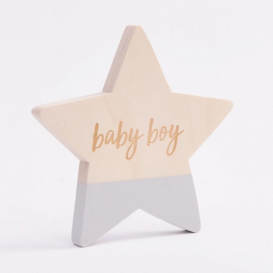 Bim Bla - Drewniana Gwiazdka Baby Boy Niebieska - Esy Floresy