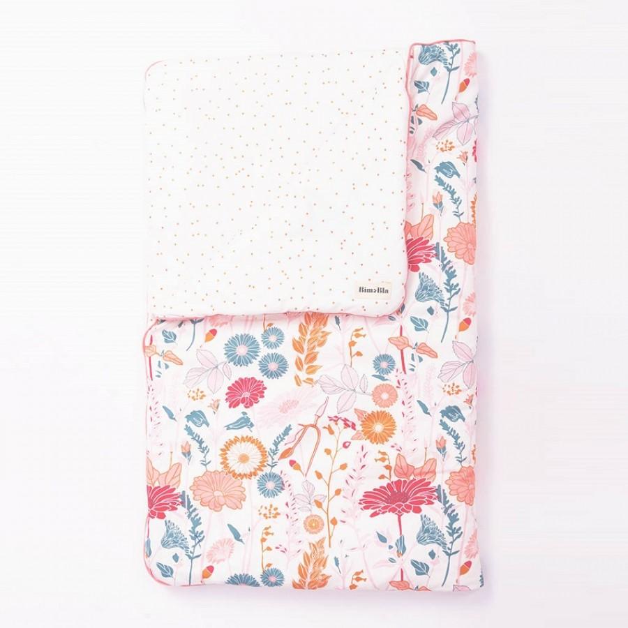 Bim Bla - Kołderka niemowlęca Daisy Dots 75x95 cm - Esy Floresy